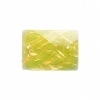 Resin Sew-on Dichroic Style 10pcs 15x21mm Rectangle Yellow